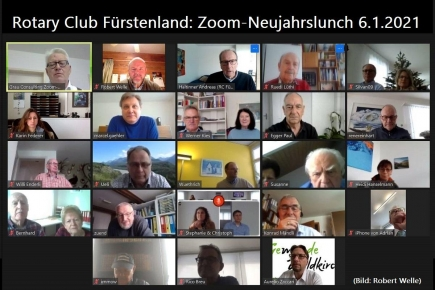 Zoom Meeting Rotary Club Fürstenland 6.1.2021